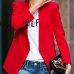 RED BLAZER… OF COURSE!